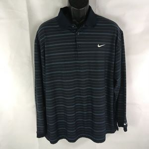 Nike Golf Fit Dry Long Sleeve Polo Shirt Size XL
